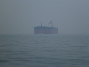 Super Tanker in Thursday's haze