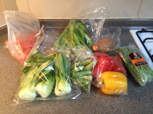 Friday's veggie haul