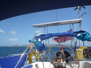 Champagne sailing off Grenada's south coast