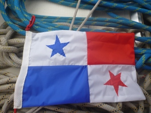 Panama courtesy flag hand made on voyage