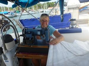 Happy seamstress