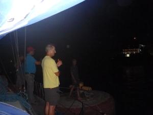 Buoy dancing Gatun Lake