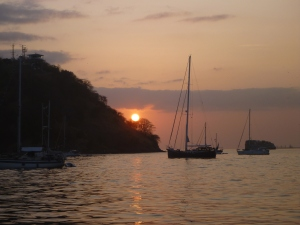 Dawn in La Playita anchorage