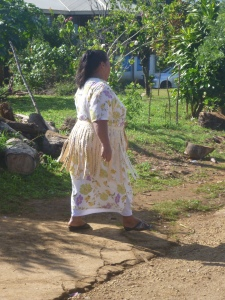 Stepping out in her Sunday best Tongan style