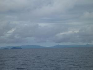 Rainy skies over Fiji