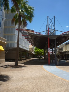 Shady shopping street, Darwin