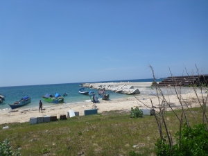 A view from the beach at Kupang