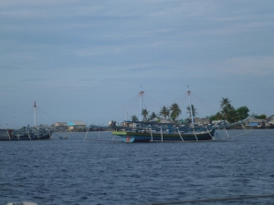 Spent the night amongst the fishing boats of Bukulimau