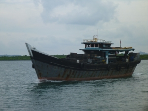 Another local boat off Batam