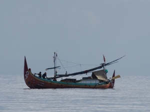 One of many styles of Indonesian fishing boat