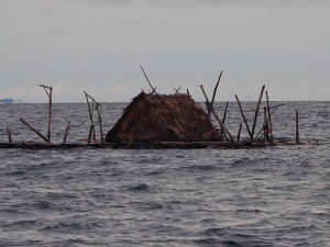 Another mystery obstacle in the sea off Belitung - a fishing raft?